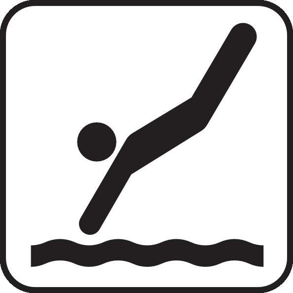 Diving White Clip Art at Clker.com.