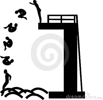 Springboard Diving Clipart.