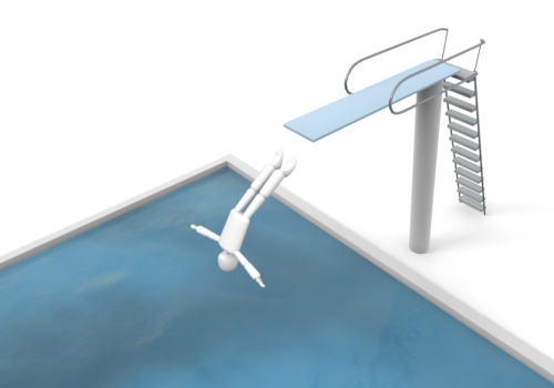 High diving board clipart.