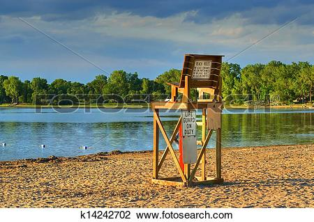 Stock Photo of Lifeguard Chair in High Dynamic Range k14242702.