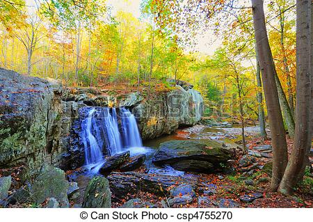 Stock Photography of High Dynamic Range photo of Kilgore Falls in.