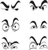 Clip Art of angry cartoon eyes set vector k11113729.