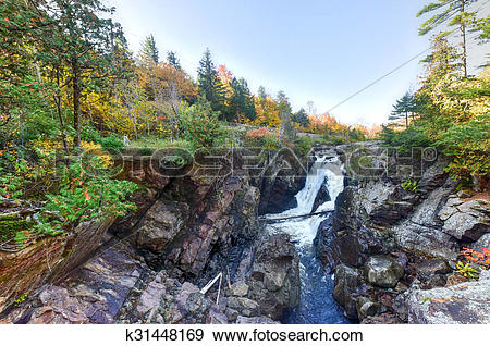 Stock Illustration of High Falls Gorge.
