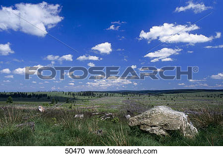Stock Photography of Clouds over landscape, High Fens, Liege.