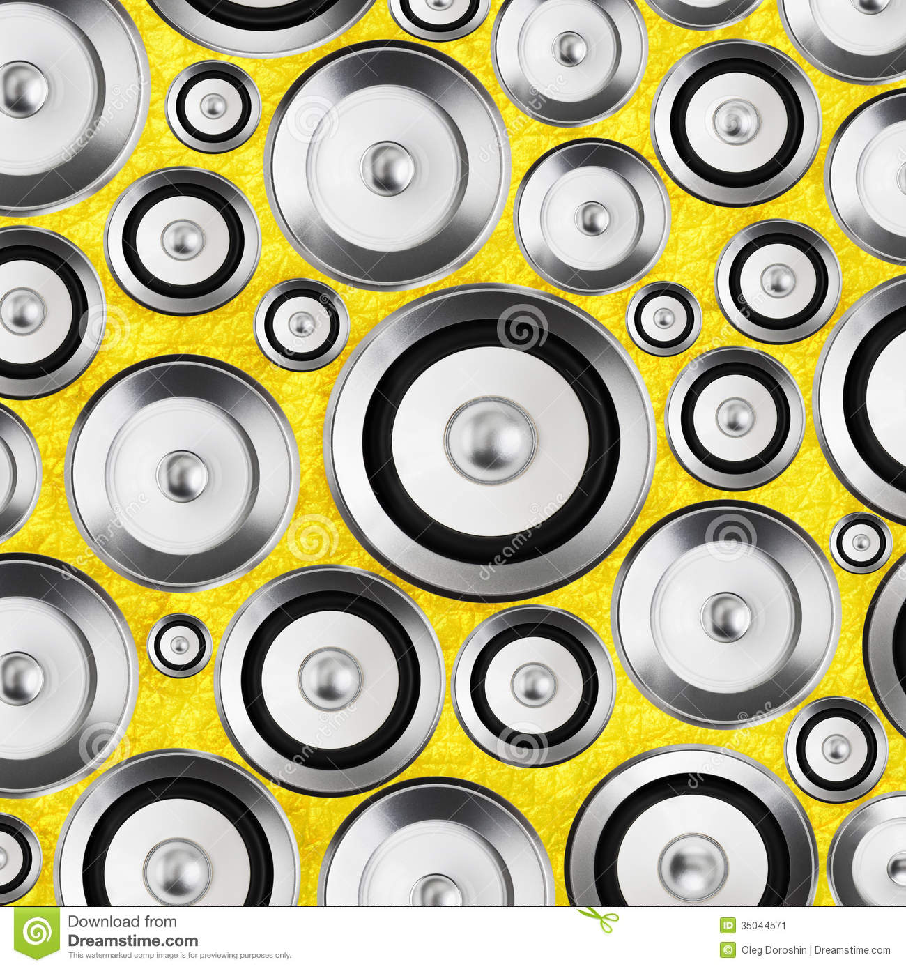Audio Stereo System Sound Speakers Background Stock Image.