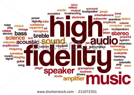 High Fidelity Concept Word Cloud Background Stock Photo 211072351.