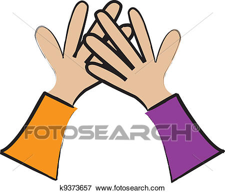 High Five Clip Art.