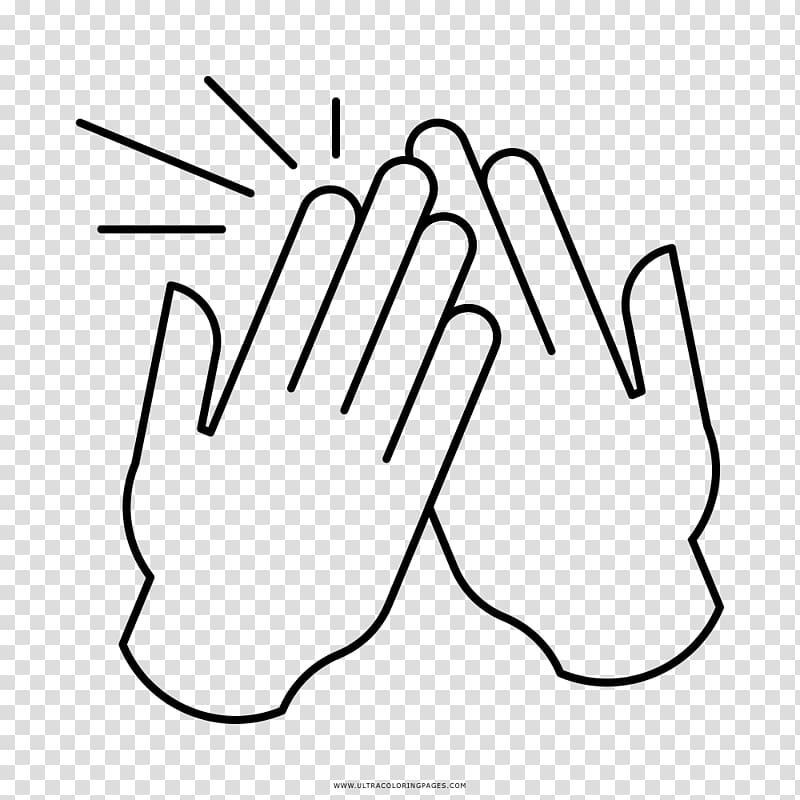 High five Thumb Drawing Applause, hi turn the court.
