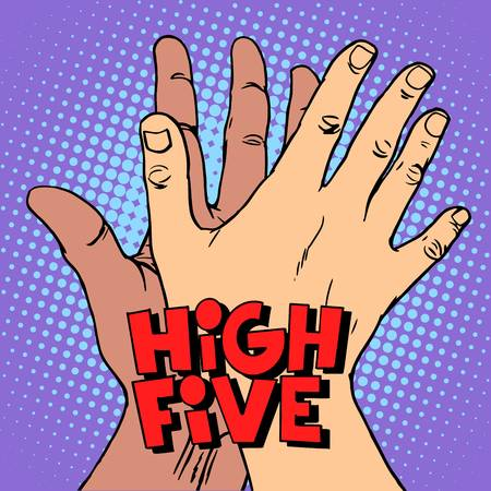 1,026 High Five Hands Stock Illustrations, Cliparts And Royalty Free.