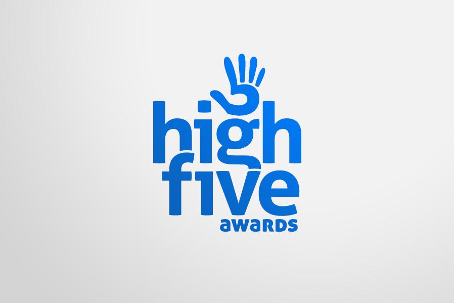 Nashua \'High Five Awards\' Logo Design.