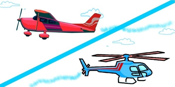 Rotor plane clipart #6