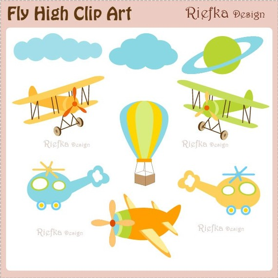 Fly High Digital Clipart Set.