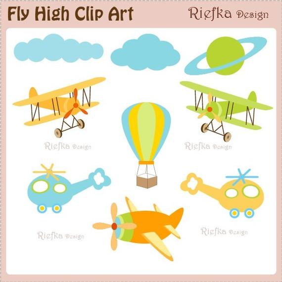 Fly High Digital Clipart Set.