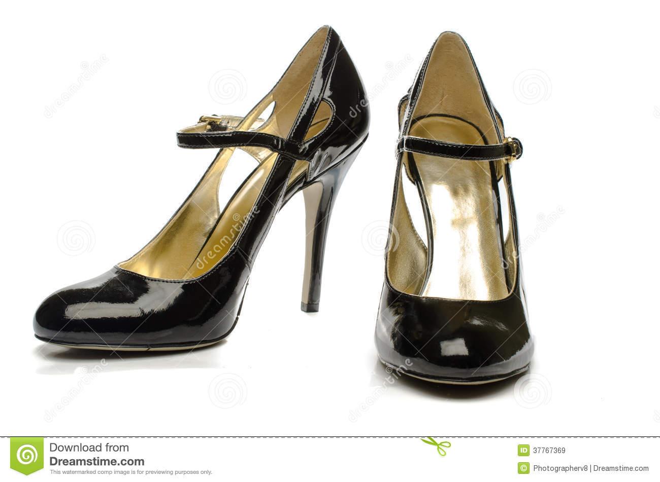 Black High Heels Shoes.