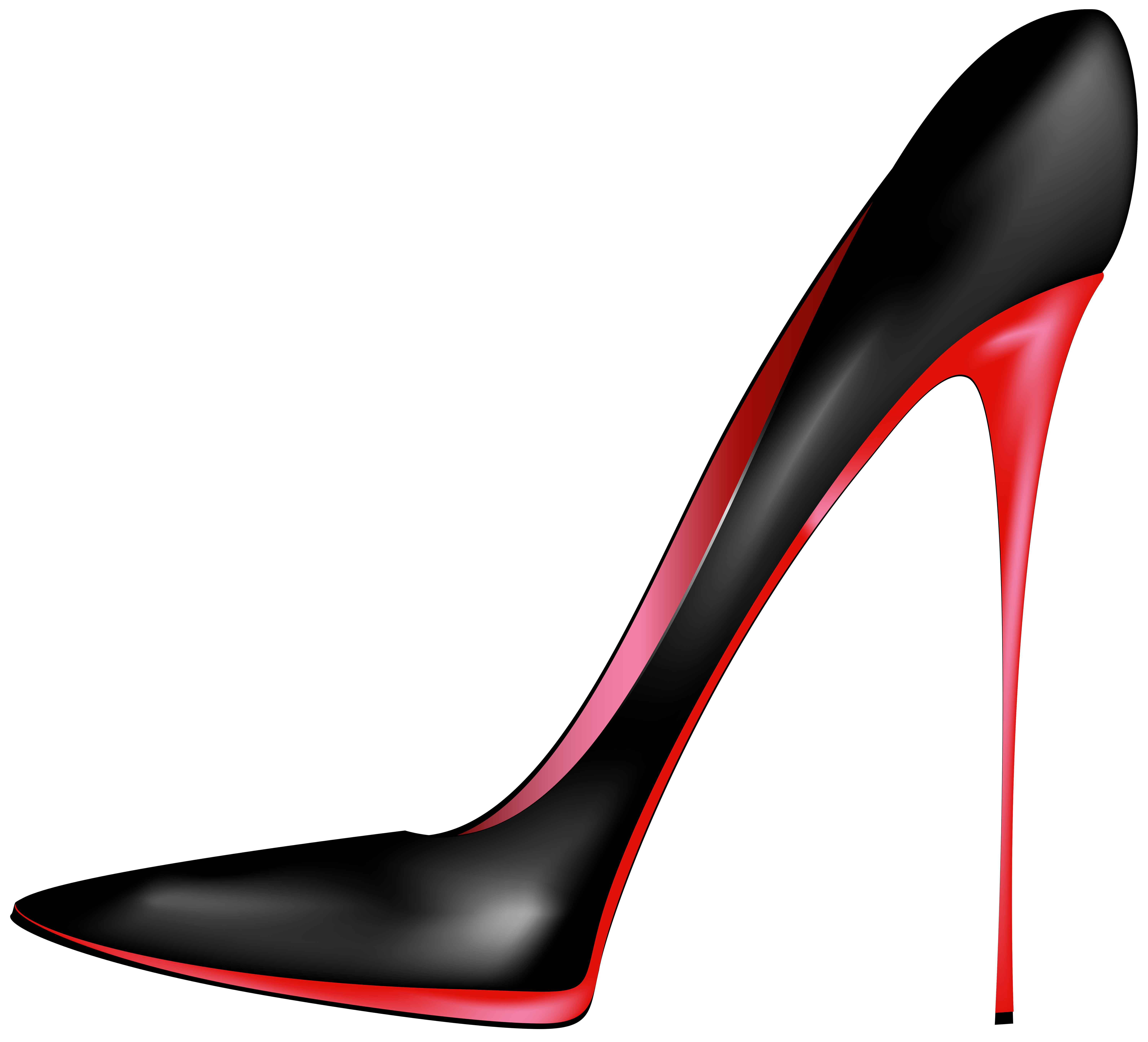 Black Red High Heels PNG Clip Art.