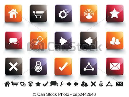 Vector of Internet Icon Set.