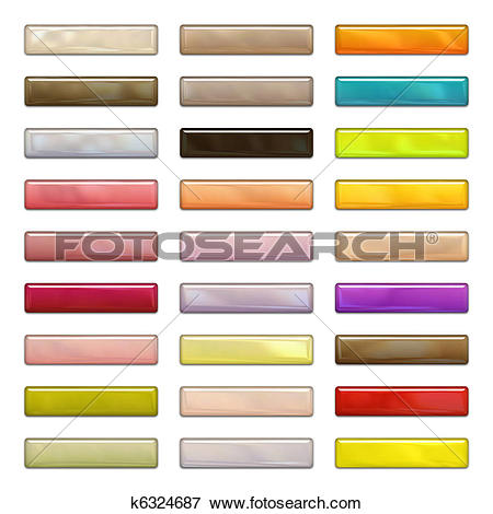Stock Illustration of High gloss web buttons in bright and pastel.