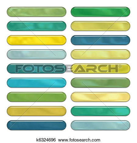 Stock Illustration of High gloss round web buttons in green, blue.