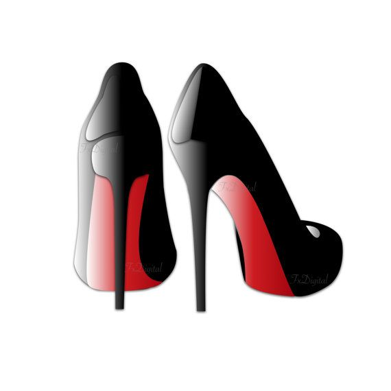 Red High Heels Clip Art.