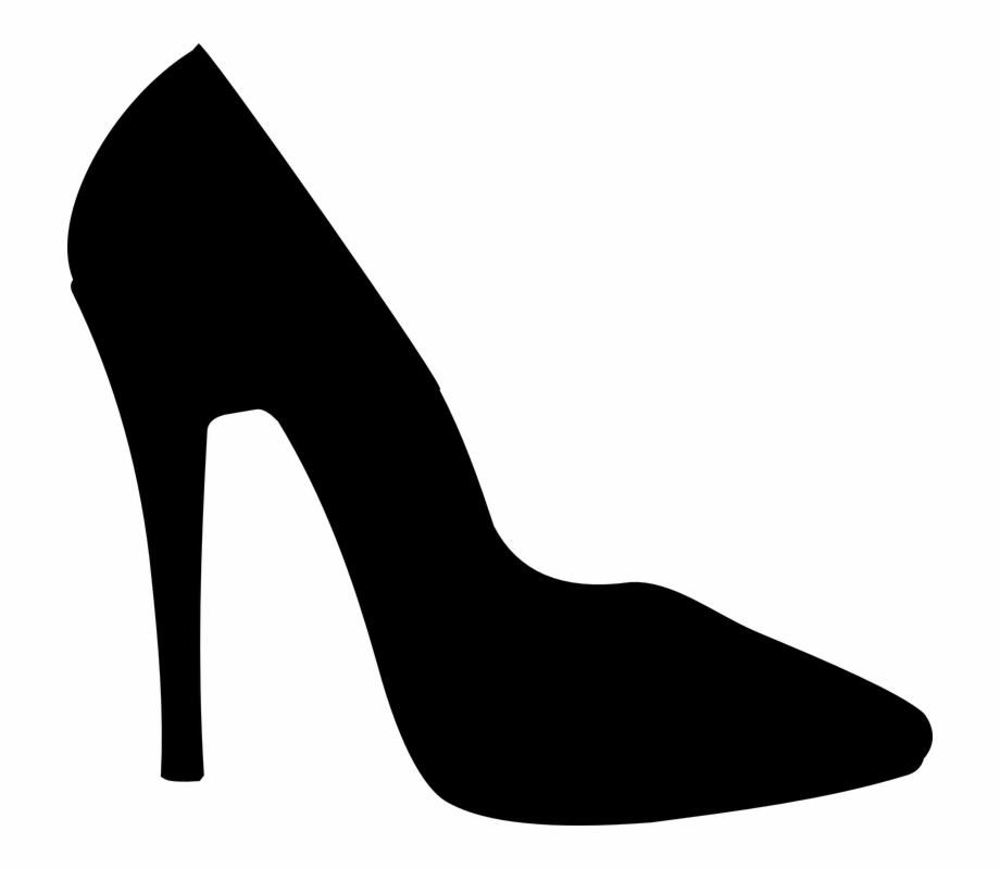High Heel Shoe Png Black And White Transparent High.
