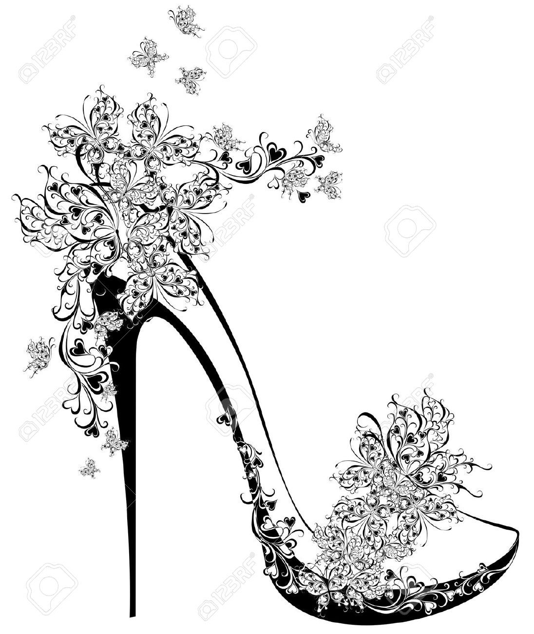 High Heel Shoe Stock Illustrations, Cliparts And Royalty.