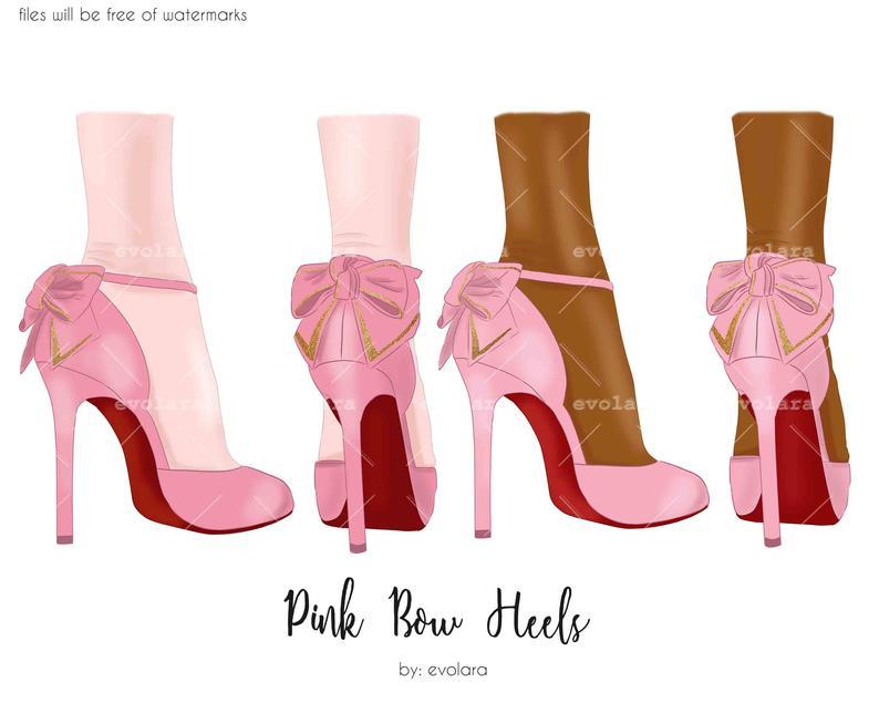 High Heel Shoes Clipart Fashion Illustration Pink Heels Clipart Heels  illustration Stiletto Clipart Planner Clipart Planner Stickers.