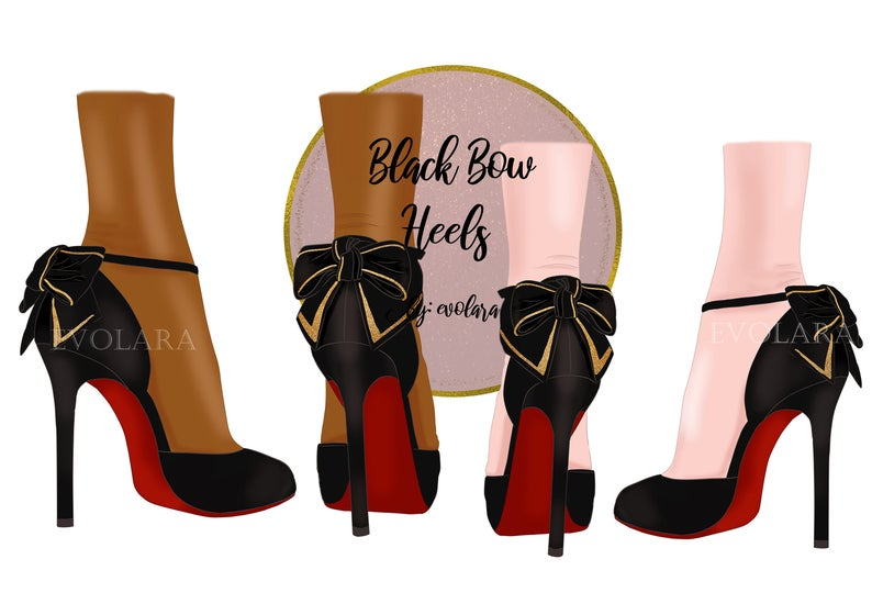High Heel Shoes Clipart Fashion Illustration Black Heels Clipart Heels  illustration Stiletto Clipart Planner clipart Planner stickers.