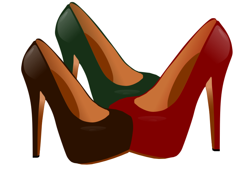 High Heel Shoe Clipart Green.