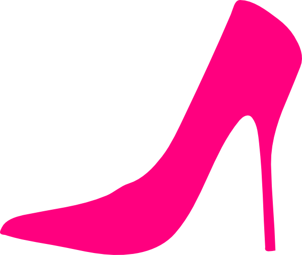 Pink high heel shoes clipart.