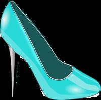 Diva high heels clipart.