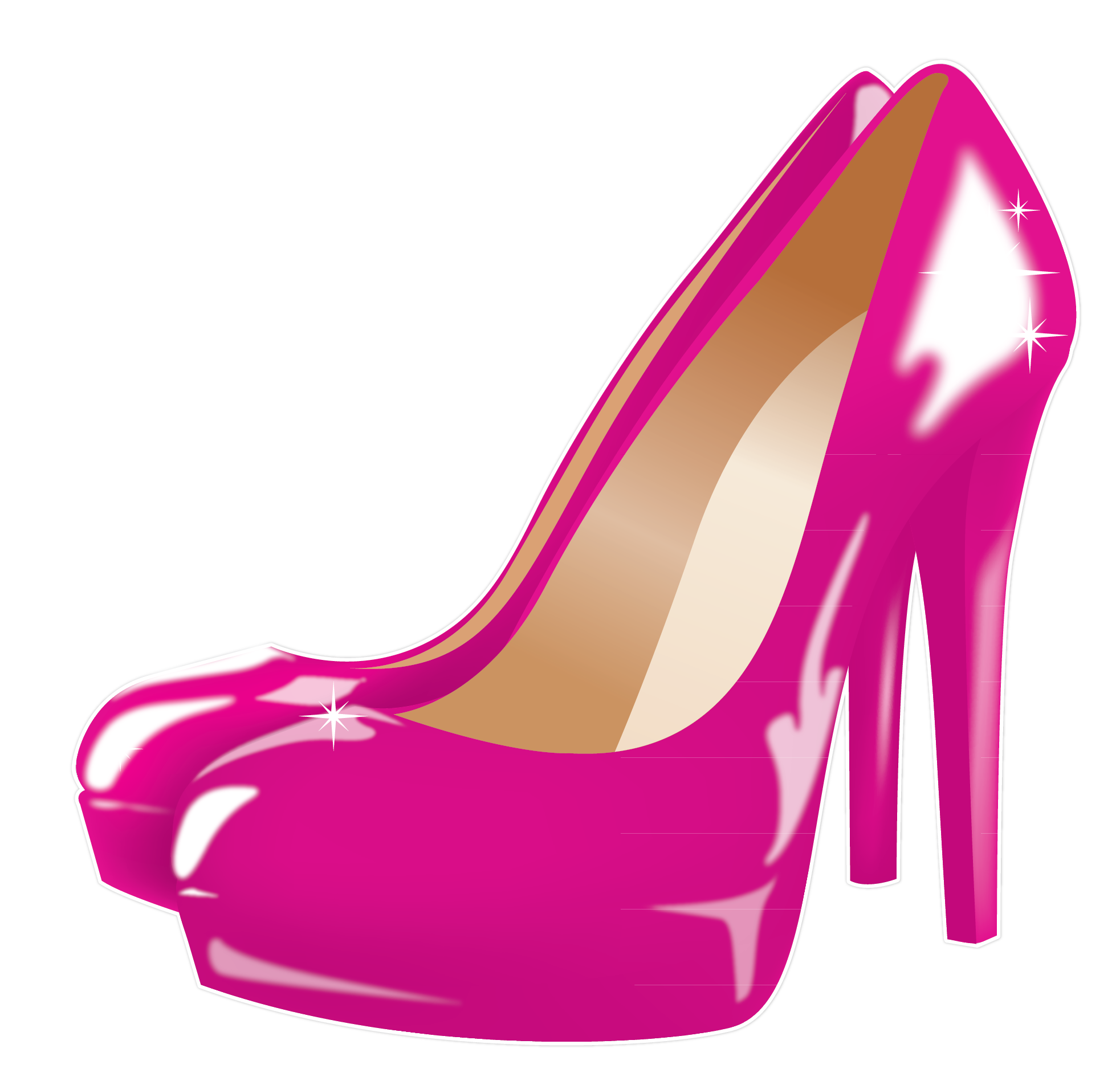 High heel shoes style style and heels on clip art.