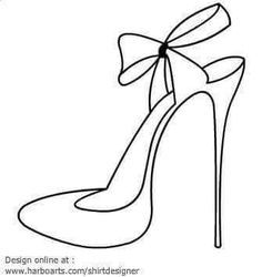 black and white high heels clipart #17.
