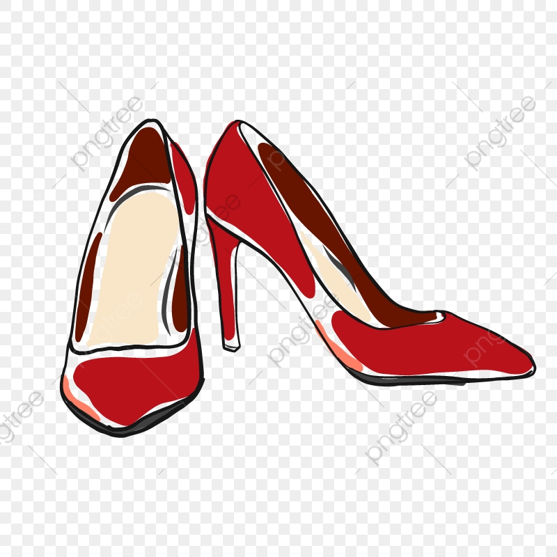 Red High Heels Doodle Vector, Fashion, Illustration, High PNG and.