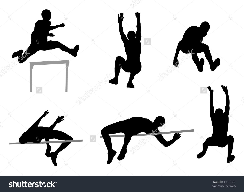 Jumping People High Jump Long Jump Stock Illustration 13273327.