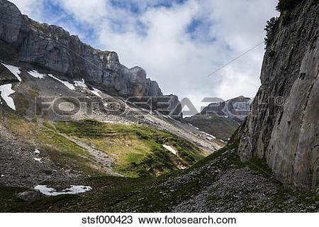 Stock Photo of Austria, Tyrol, Allgaeu High Alps, Nature Reserve.