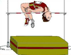 Free Track High Jump Clipart.