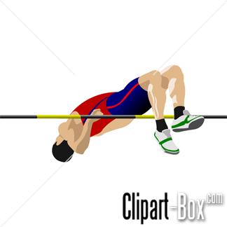 CLIPART MAN HIGH JUMP.