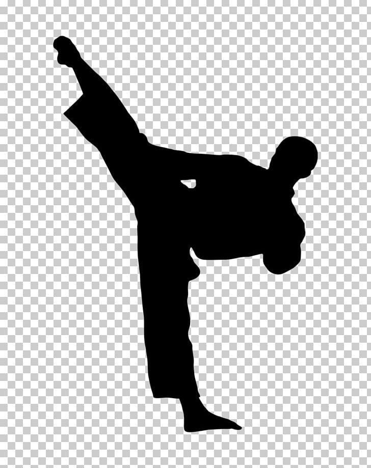 Kick Karate Martial Arts Taekwondo PNG, Clipart, Arm, Black.