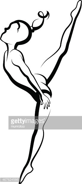Gymnast High Kick Clipart Image.