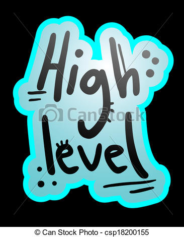 Clipart Vector of High level.