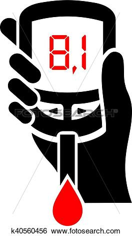 Clip Art of High level of blood sugar icon k40560456.