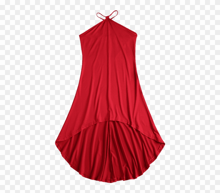 V Strap High Low Slip Dress Red Clipart (#2333562).