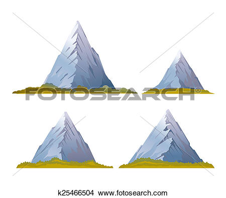 Drawings of Set of High Mountains k25466504.