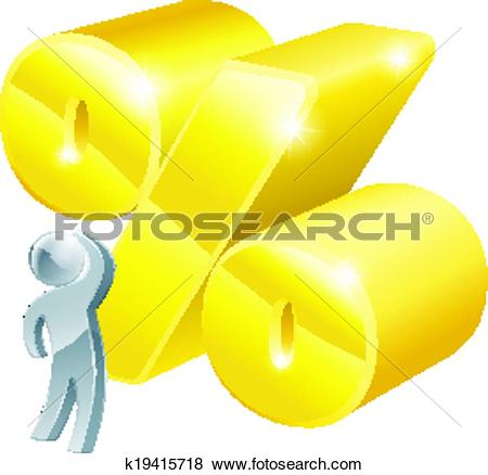 Clip Art of High percentage rate k19415718.