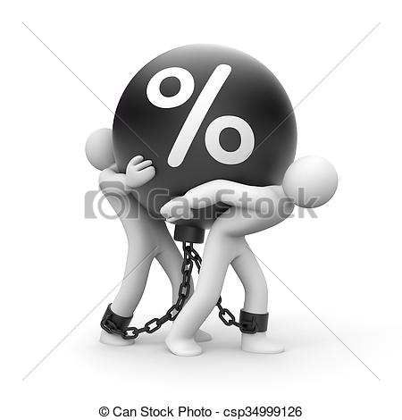 Stock Photo of Impossibly high percentage. Business metaphor.