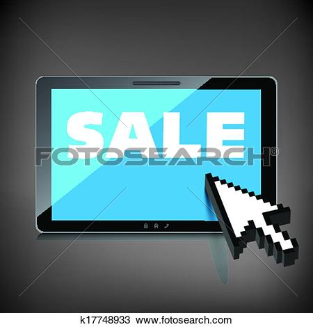 Clipart of Sale, markdown, discount on High.