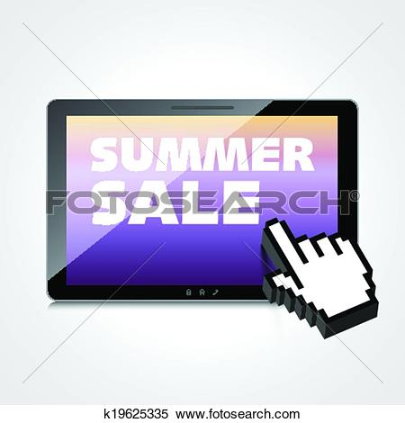 Clipart of Summer sale words. Markdown, discount on High.