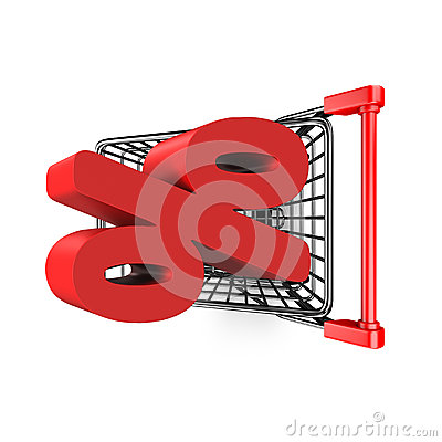 High Percentage Rate Stock Vector.