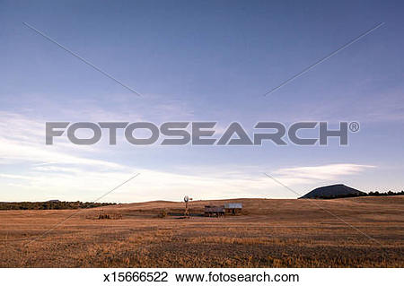 Stock Photo of Frontier farmland in the high plains x15666522.