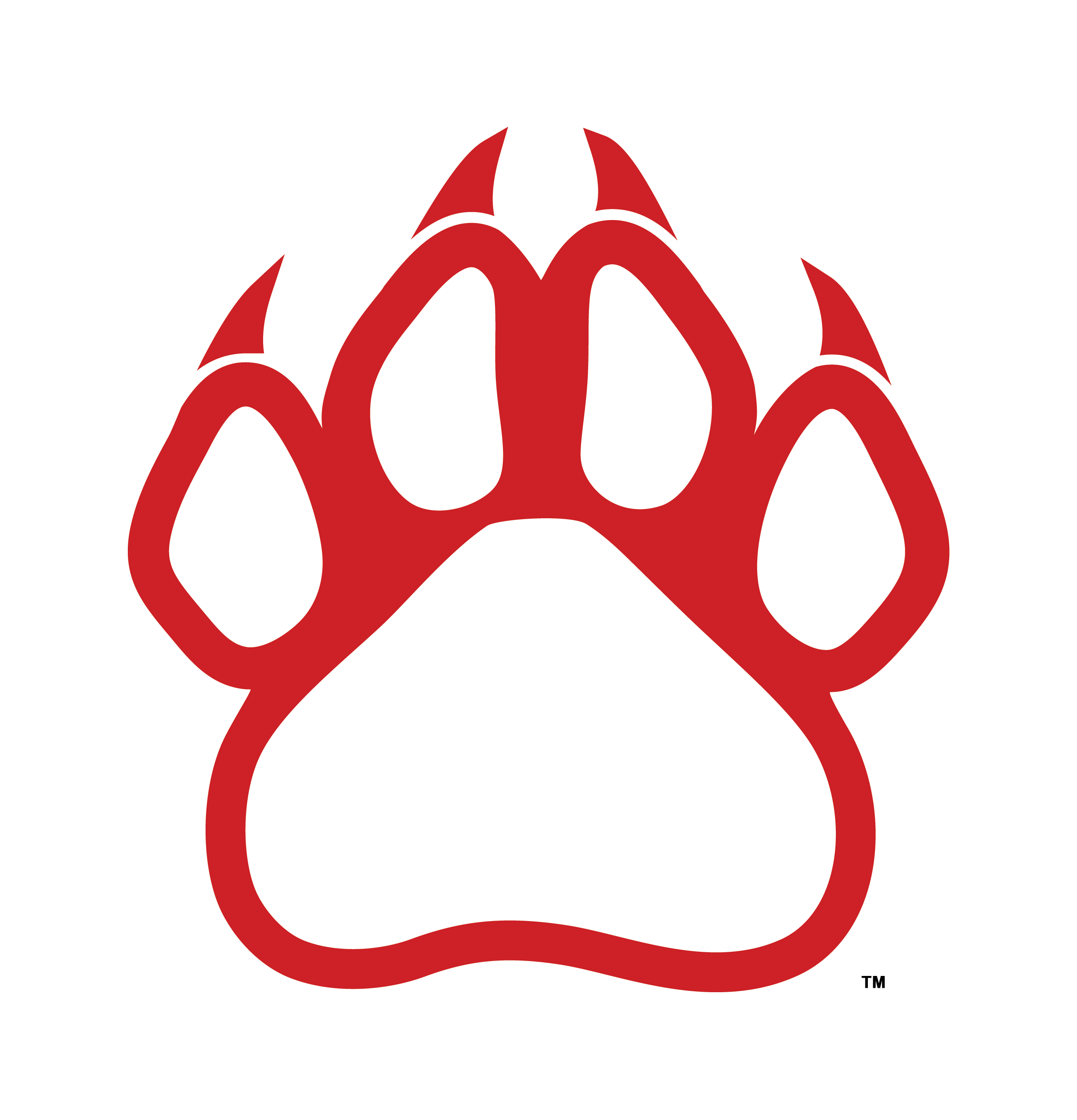 Paw school spirit clipart.